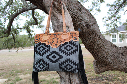 AD Southwest Black Serape Crossbody