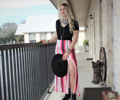 R&R Serape Split Skirt