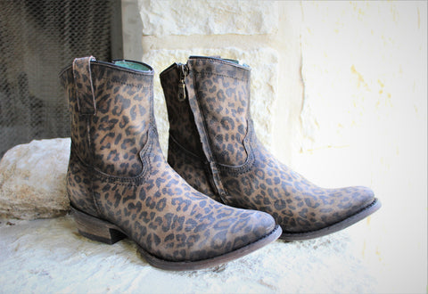 Corral Leopard Print Ankle Boot