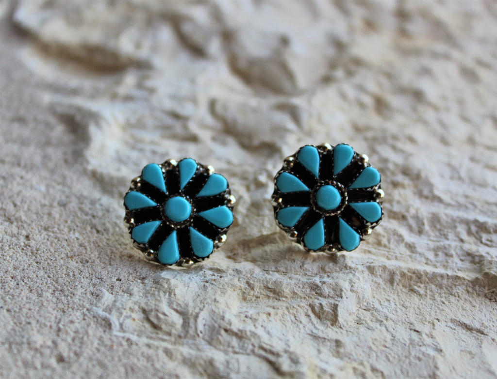 PN Turquoise Cluster Post Earrings