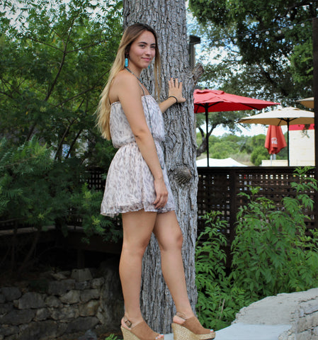 Glam Smocked Mini Dress