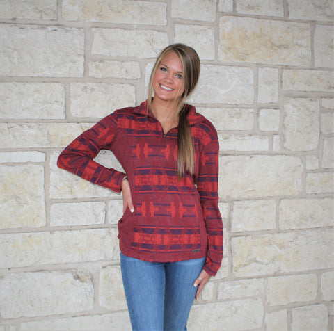 Powder River Red Quarter Zip