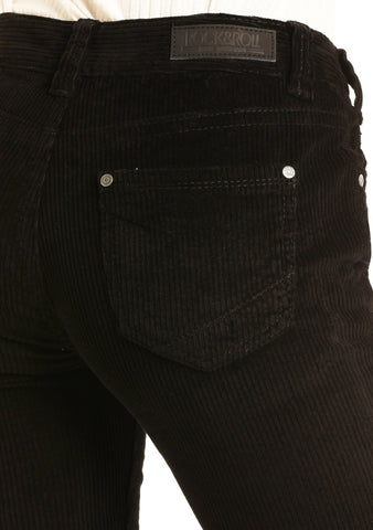 Rock & Roll Black Corduroy Bells