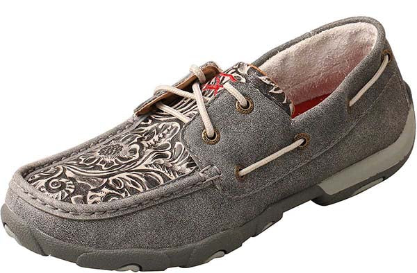 Twisted X Tooled Boat Shoe