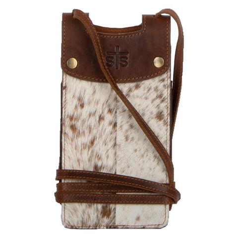 STS Cowhide Cell Phone Crossbody