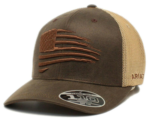 M&F Ariat Slasher Flag Oilcloth Hat