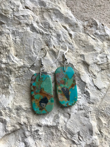 FAT Turquoise Slap Earrings