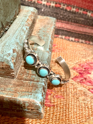 IT Three Stone Kingman Turquoise Cuff