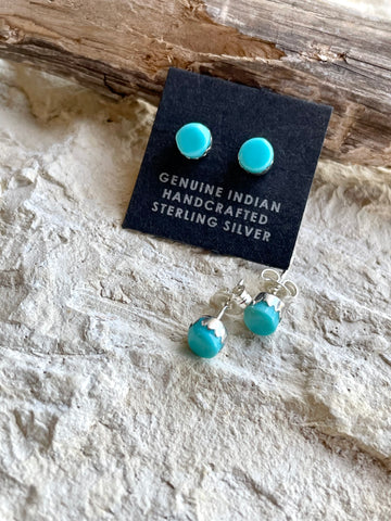 PN Small Round Turquoise Studs