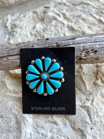 PN Turquoise Cluster Hat Pin