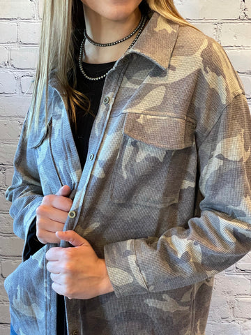Camo Thermal Knit Shirt