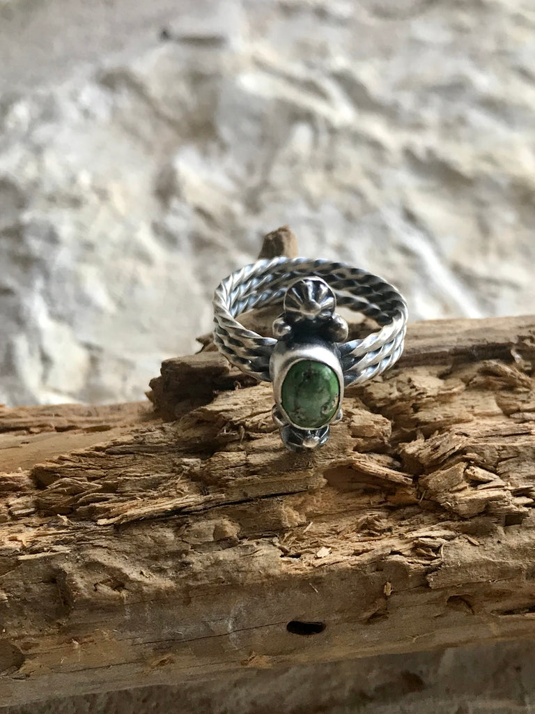 FAT Small Green Turquoise Stone Ring
