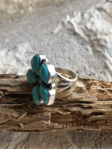 FAT Kingman Turquoise Cluster Ring