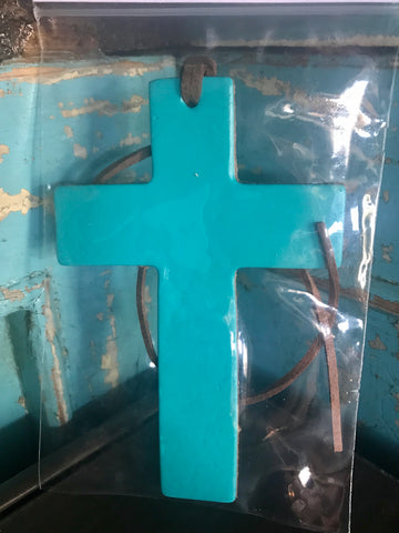 Leather Air Fresheners Cross