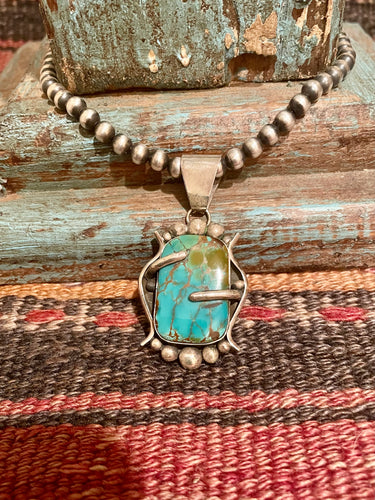 IT Kingman Turquoise Sterling Silver Pendant
