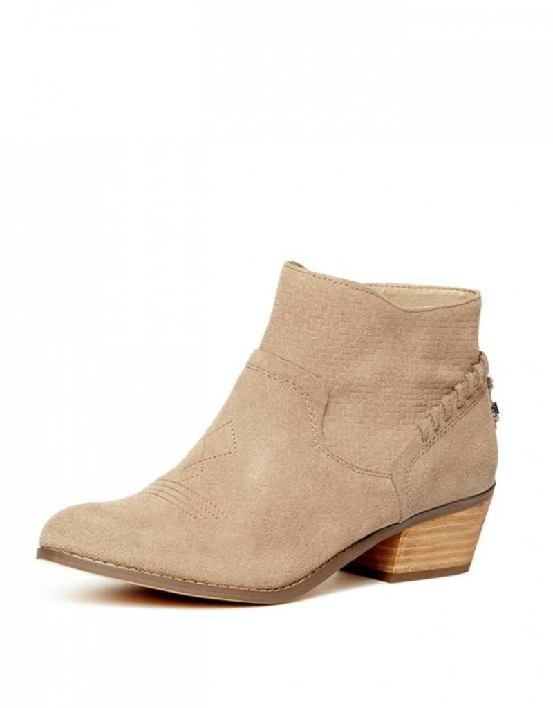 Yellow Box Pueblo Bootie Taupe