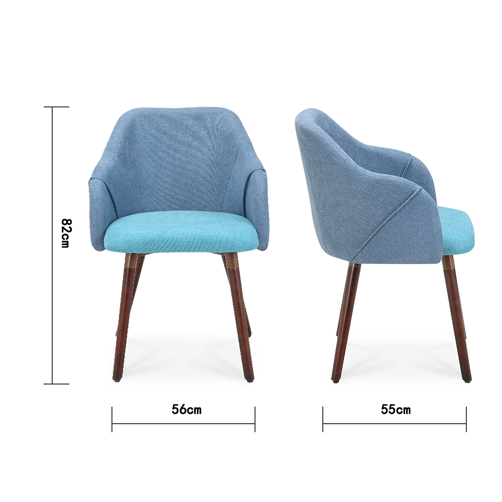 Set of 2 Cool Plus Dining Chairs with Dark Legs