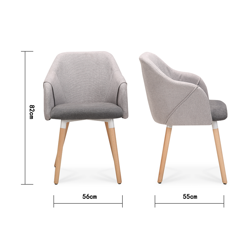 Set of 2 Cool Plus Dining Chairs with Natural Legs