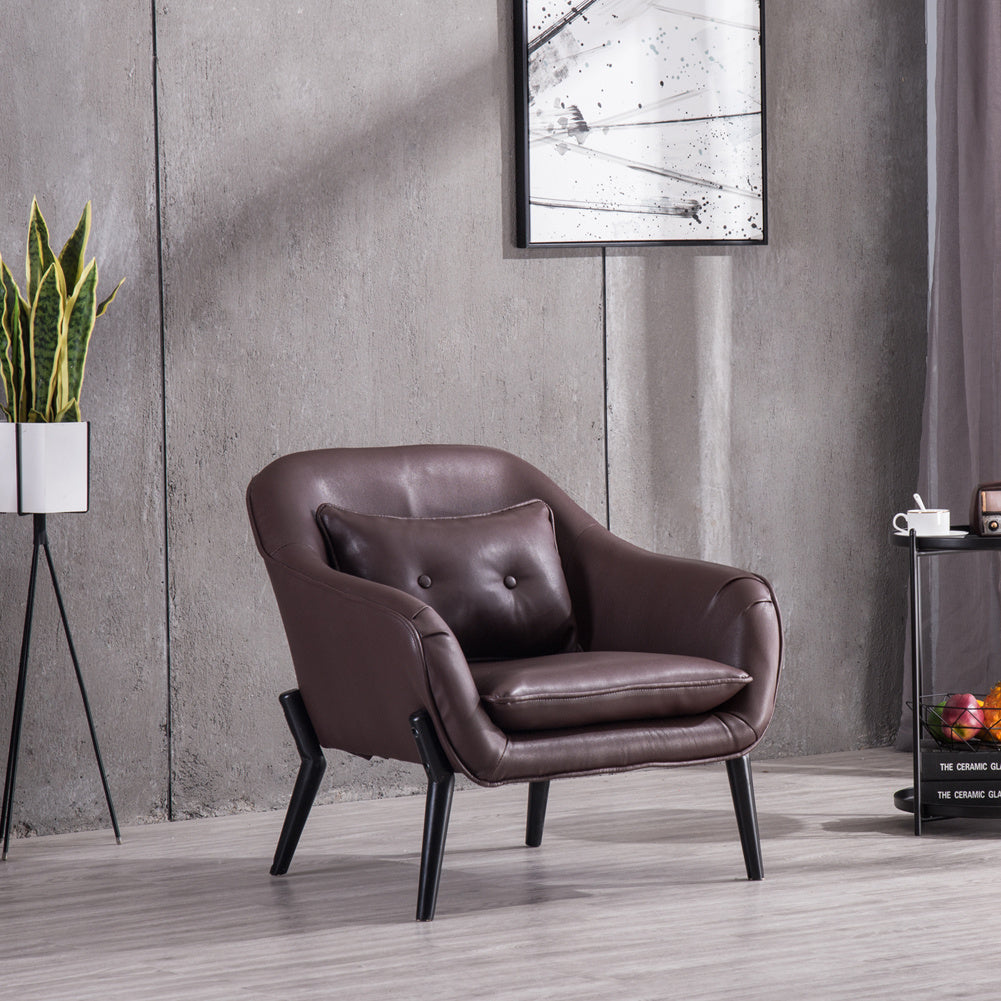 Buto Microfiber Leather Accent Armchair
