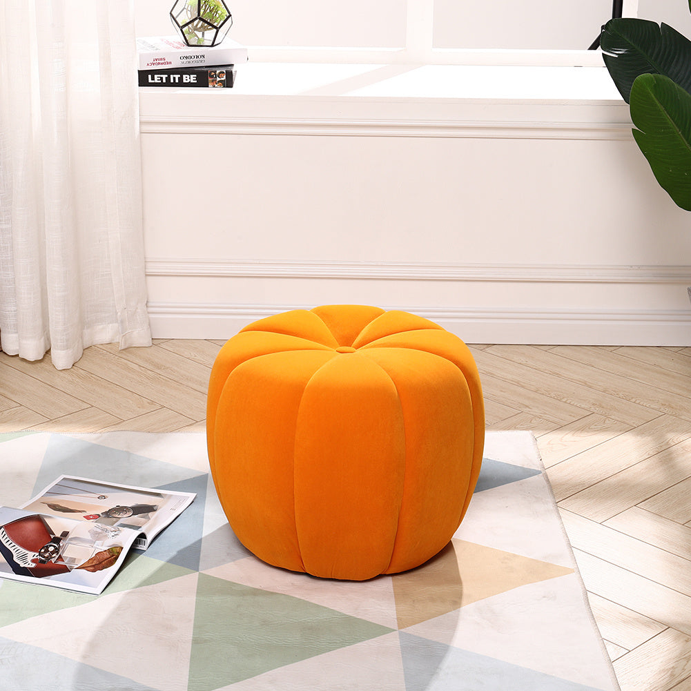 Velvet Fabric Sofa Pumpkin Footstool Pouffe Chair Ottoman Padded Stools