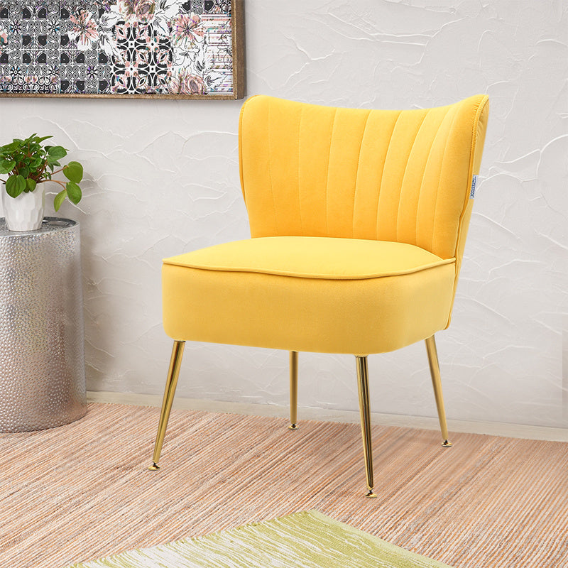 Retro Tub Chair Scallop Shell Armchair Wingback Upholstered Dressing Chair Lounge Sofa