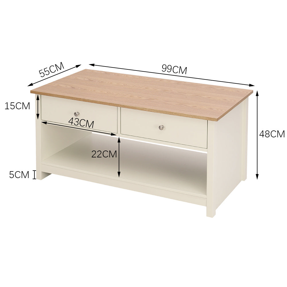 Nordic Wooden TV Stand Coffee Table Storage Cabinet Chest Console Unit