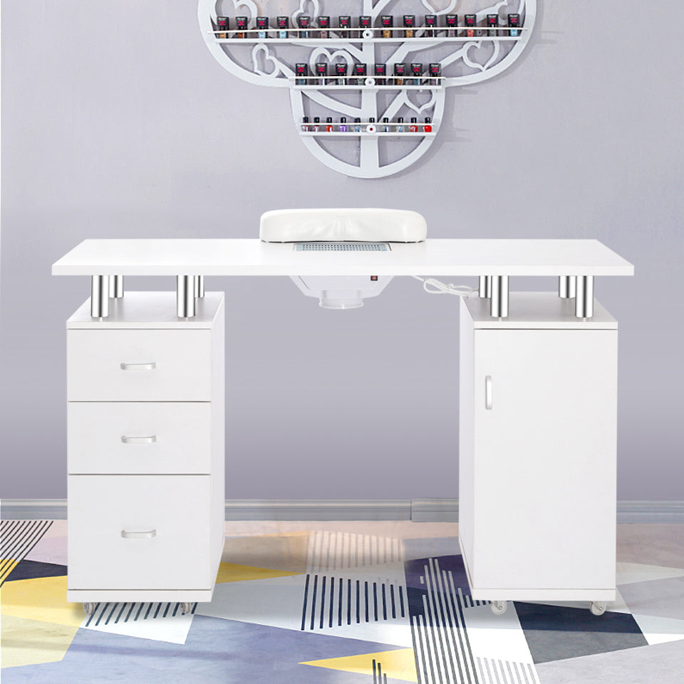 Modern Manicure Spa Desk with Nails Collector