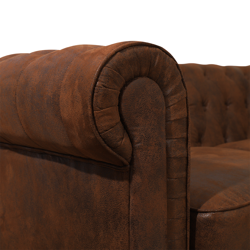 2 Seater King Sofa in Chesterfield Suede Leather