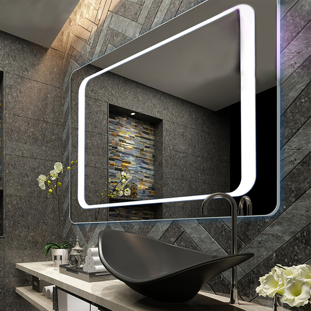 Bathroom Large Illuminated Demister Mirror With Infrared Sensor