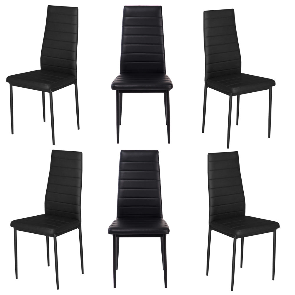6X Faux Leather Dining Chairs Kitchen Dining Room Furniture