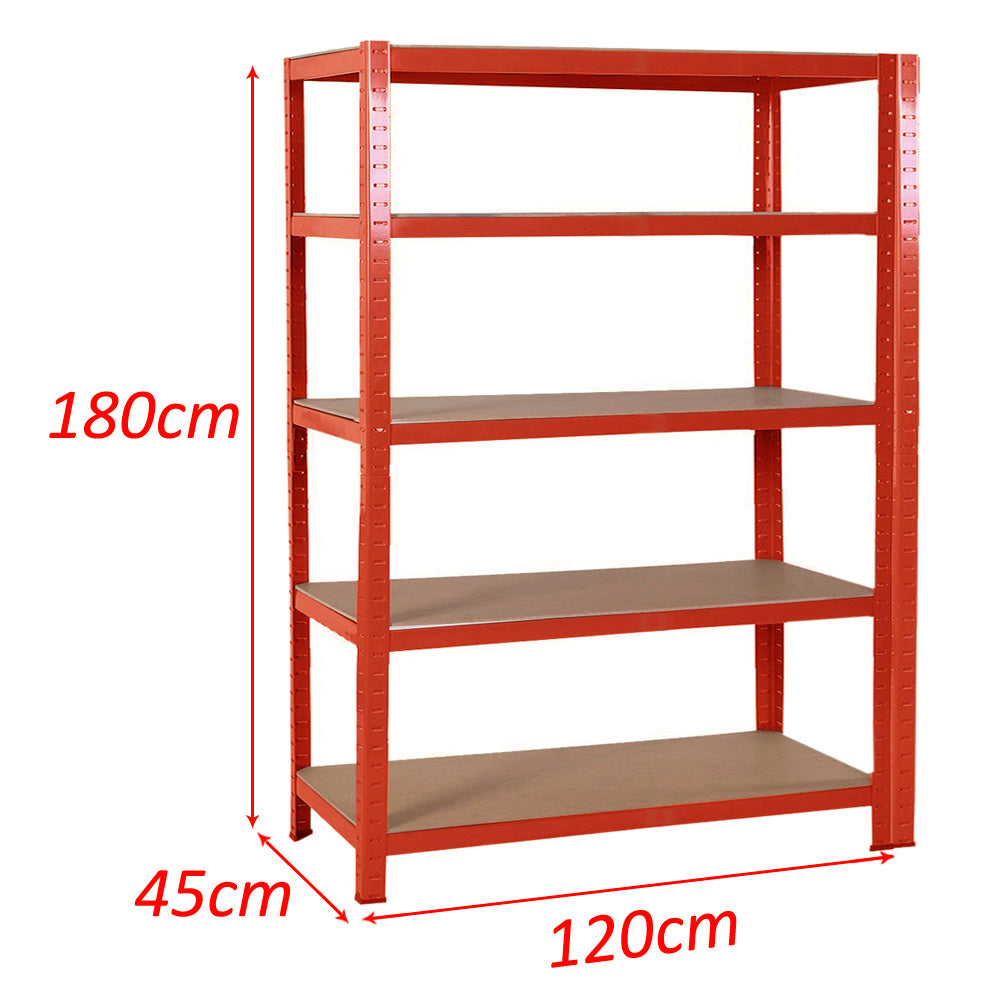 5 Tier Metal Garage Storage Rack Boltless Workshop Shelving Heavy Duty Rack Unit