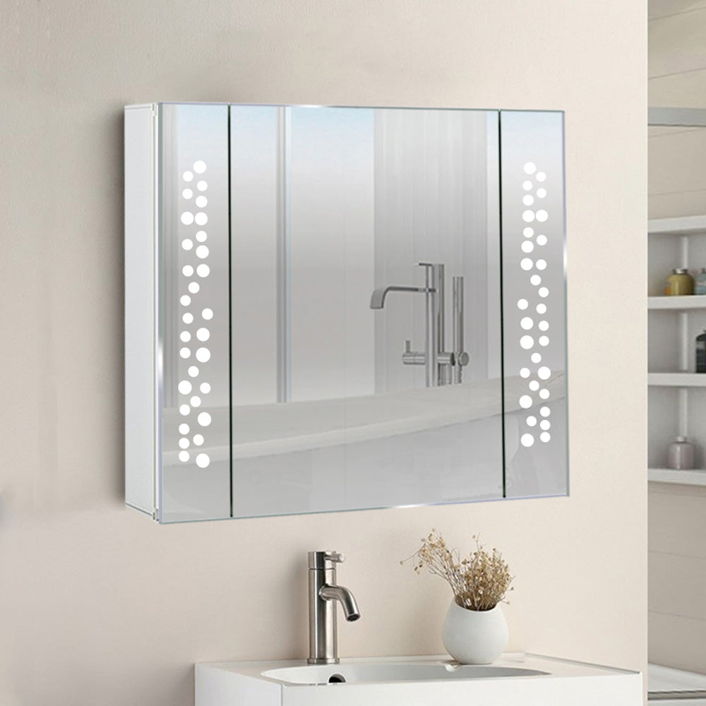 Bathroom Sensor Edge Lit LED Mirror Cabinet with Shaver Point