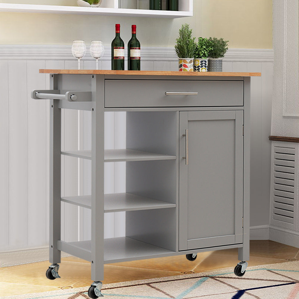 Medium Size Multi-Function Rolling Kitchen Trolley