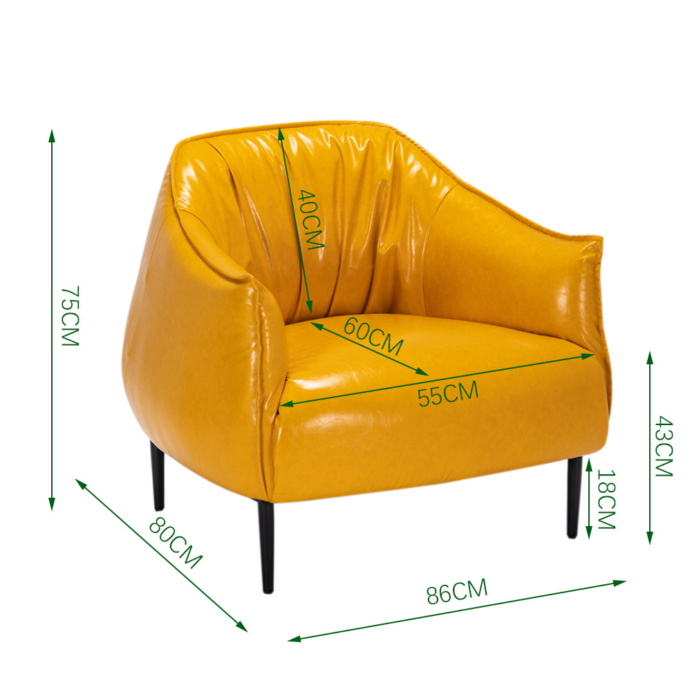 Wagi Vogue Leather Accent Armchair
