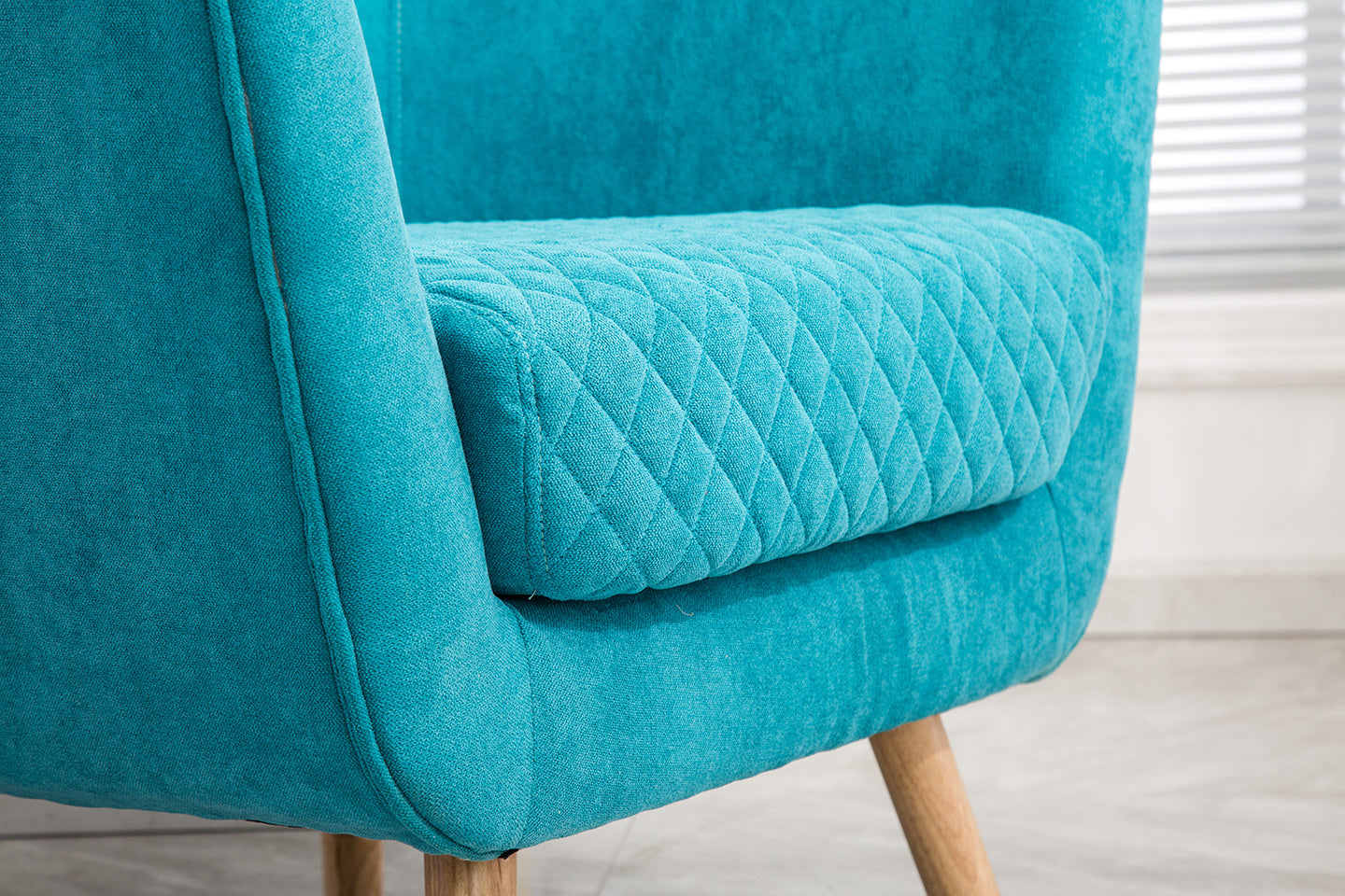 Super Cosy Diamond Linen Tub Chair