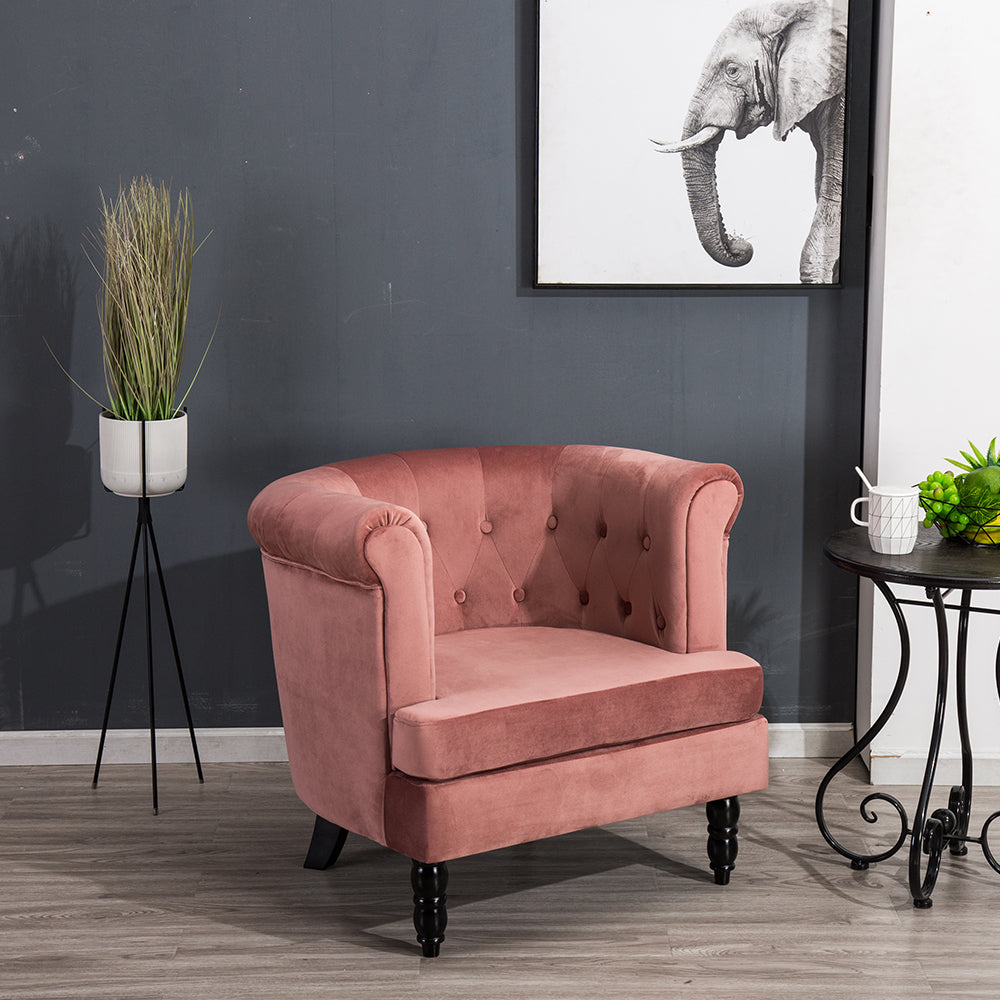 Enchanting Velvet Chesterfield Tub Chair