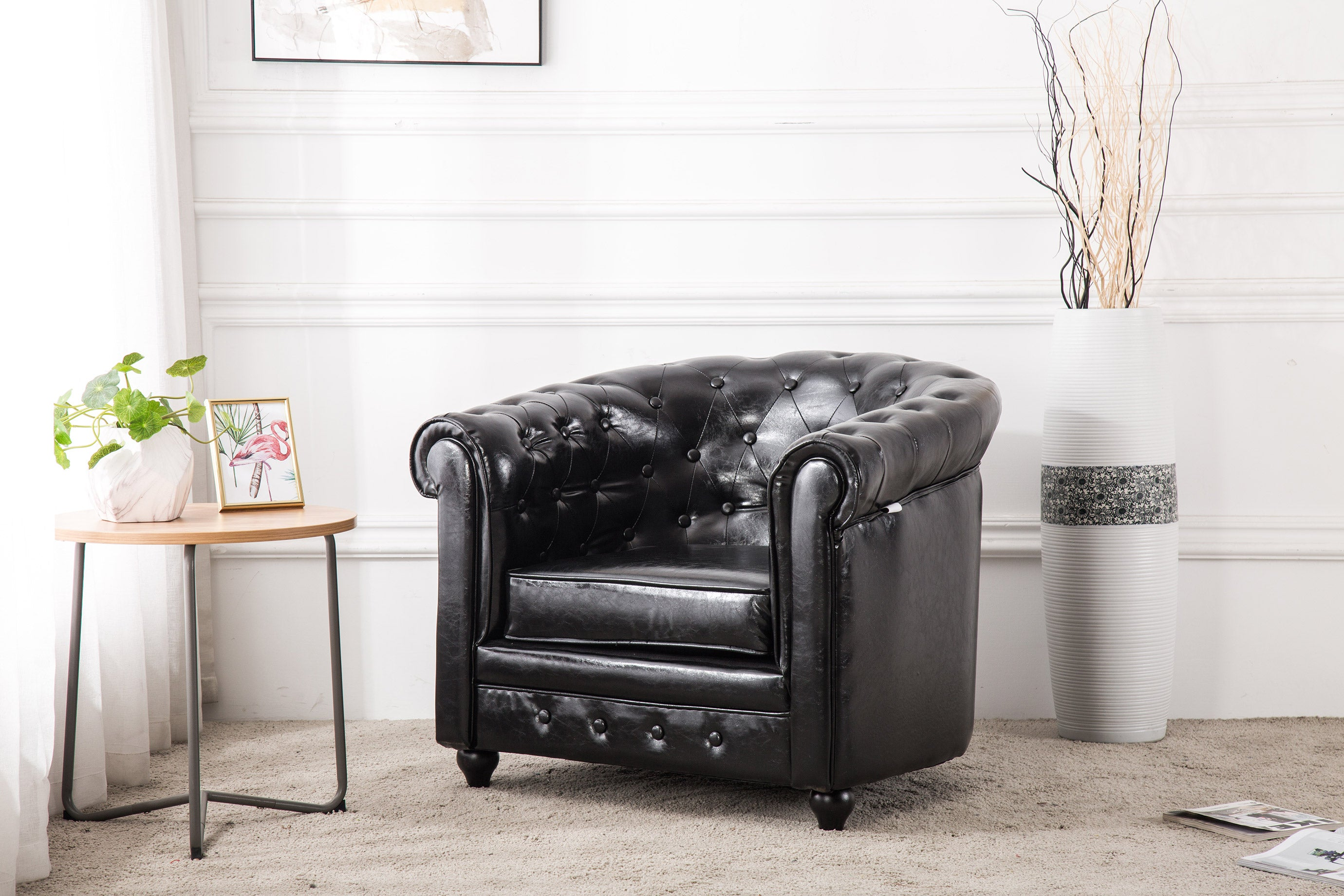 Noble Chesterfield Leather Tub Chair
