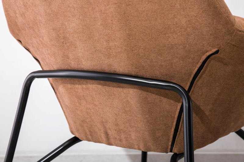 Suede Fabric Detachable Metal Frame Armchair