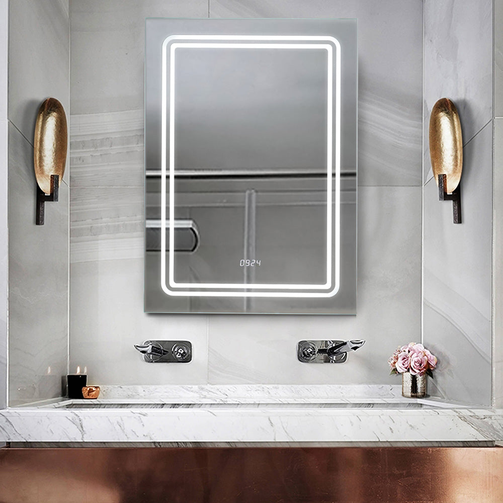 Bathroom Sensor LED Defogger Mirror Cabinet with Shaver Socket