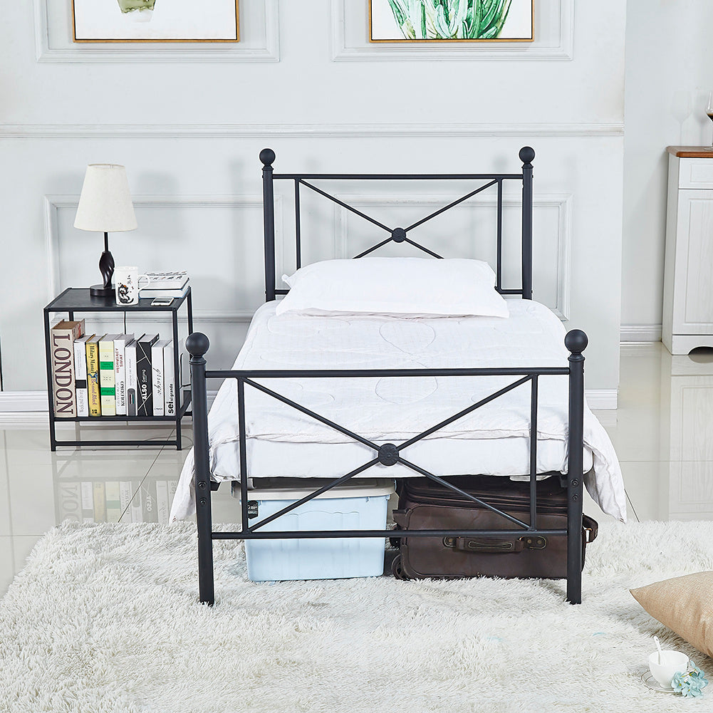 Diamond Black Iron Bedstead
