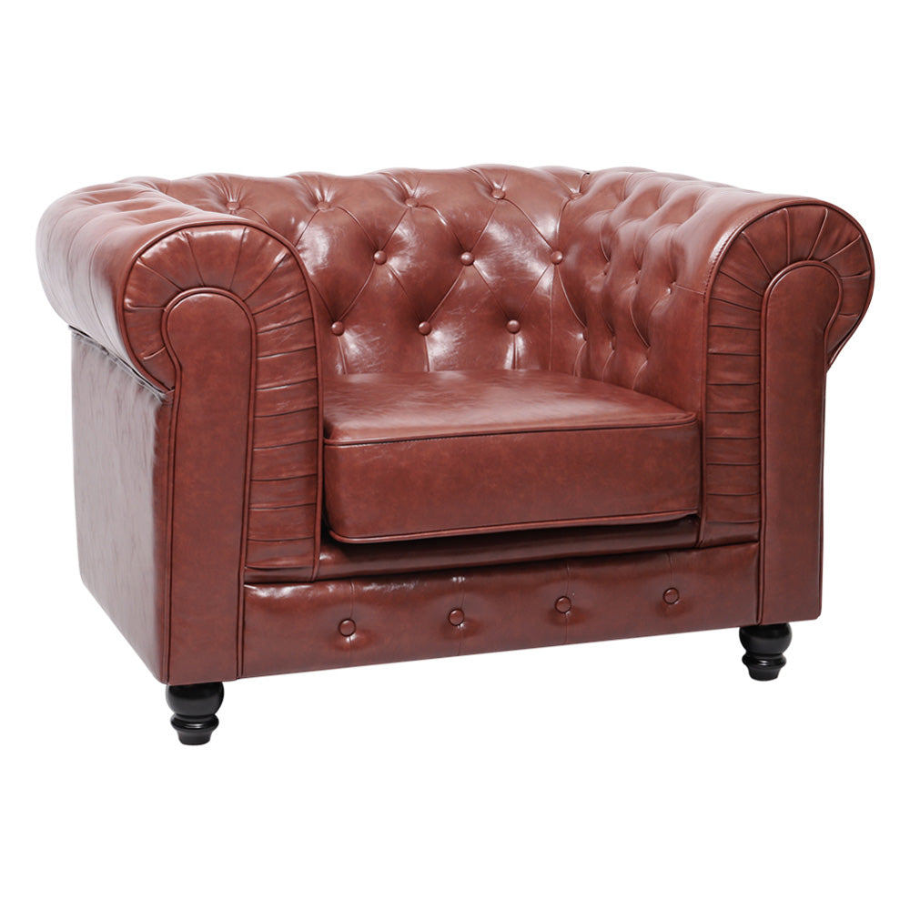 Chesterfield Sorrel Leather Armchair