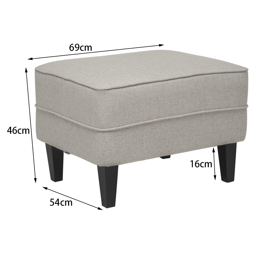 Luxury Wooden Ottoman Upholstered Footstool Pouffe Stool 4 Legs