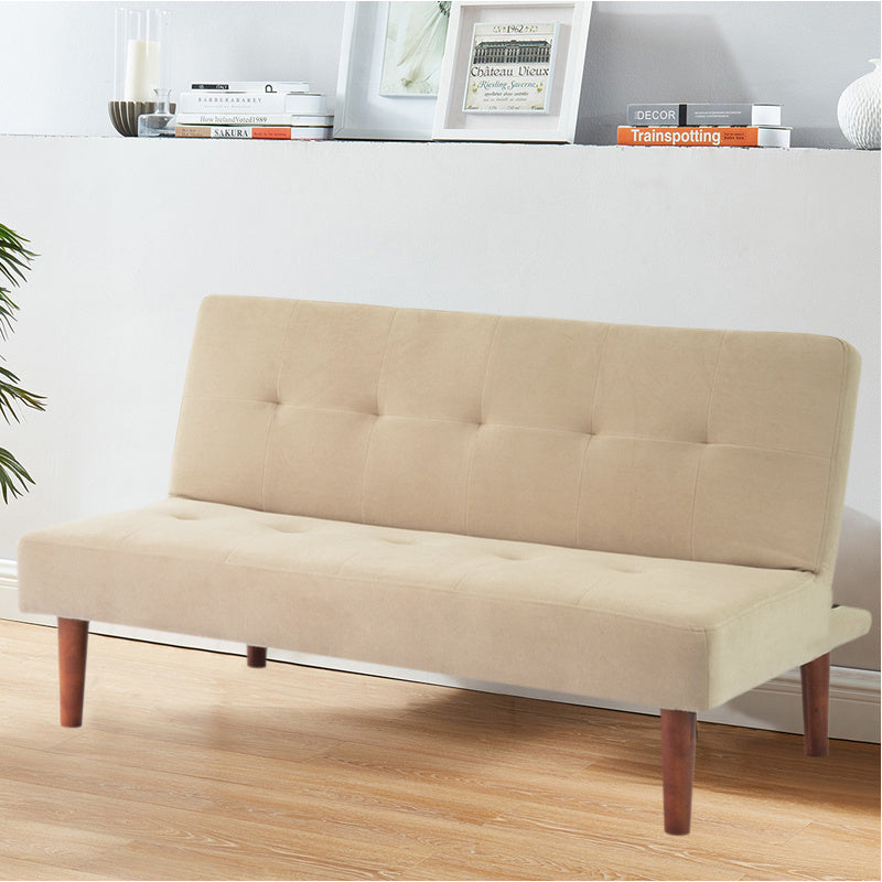 Foldable 2 Seater Sofa Bed Corner Couch Settee Buttoned Couch Sleeper Chair