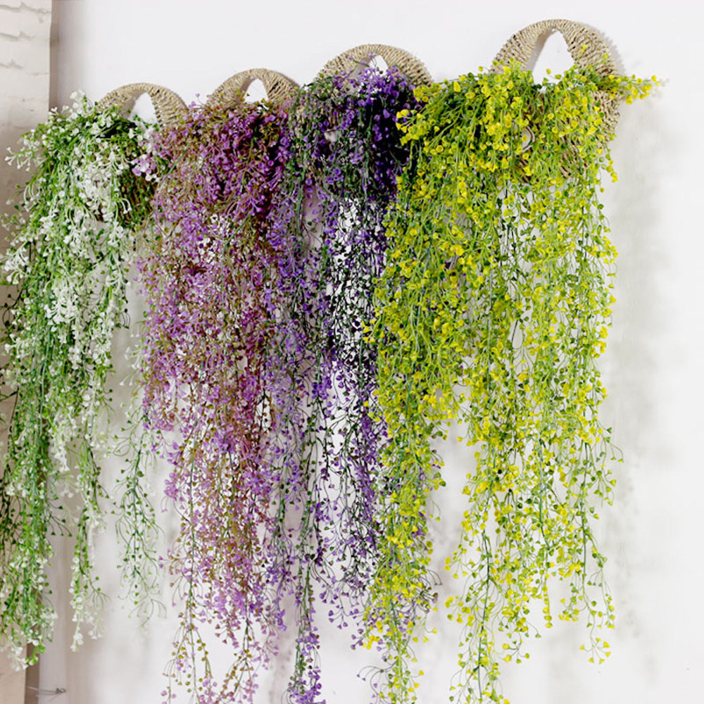 Vivid Artificial Hanging Trailing Bellflower Plant