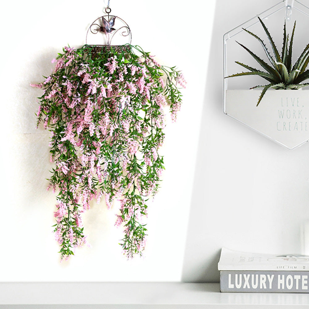 2pcs of Artificial Hanging Pink Lavender Plant
