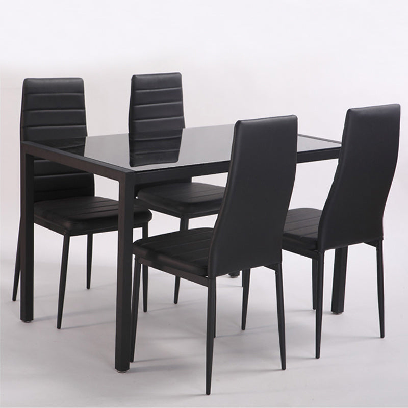 4X Faux Leather Dining Chairs Kitchen Dining Room Furniture