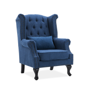 Retro Chesterfield Suede Fabric Wingback Armchair - Lifelook Store