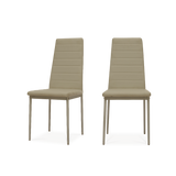 Set of 2 Ladder Leather Dining Chairs - Lifelook Store