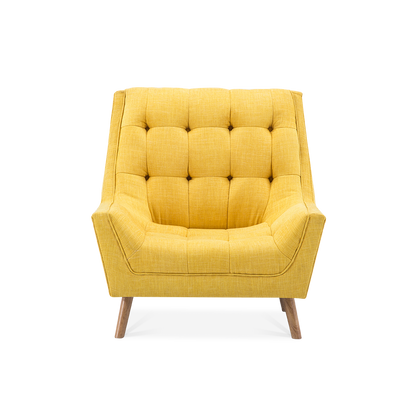 Chenille Super Buttoned Accent Armchair & Footstool