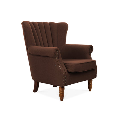 Retro Linen Lined-back Armchair - Lifelook Store